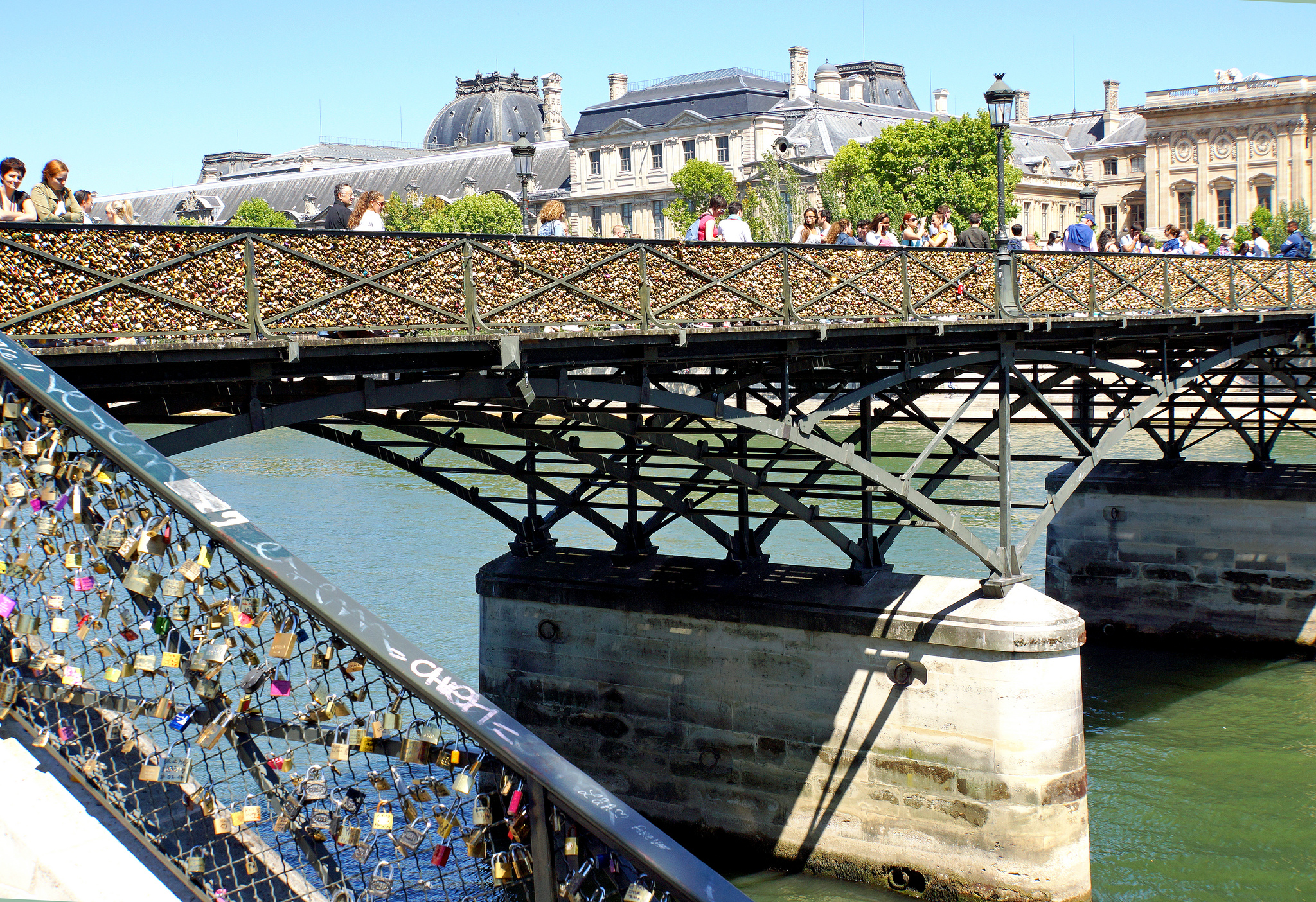 Featuring Love Lock Bridge in Paris, France is one of the better European countries for an overland trip ... photo by CC user archer10 on Flickr
