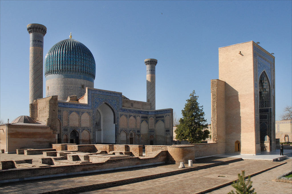 The Registan in Samarkand is a prime sight on the Sik Road, which is one of the world's best overland journeys ... photo by CC user dalbera on Flickr