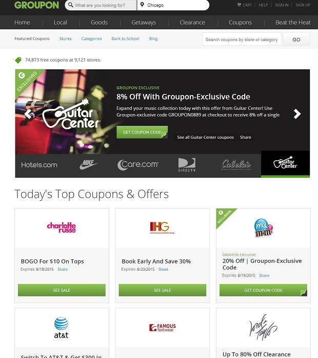 Groupon Coupons for tripwheeling.com